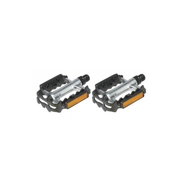 """VP Components MTB Pedals 9/16"""" Alloy Silver with Black Cage"""