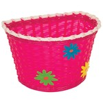 Pacific Kids Bitz Kiddies Basket Pink with Green, Blue and Yellow Flowers