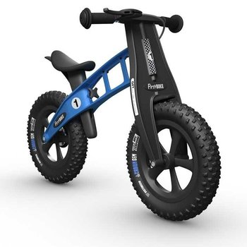 FirstBIKE FAT Cross Balance Bike w/Brake Light Blue