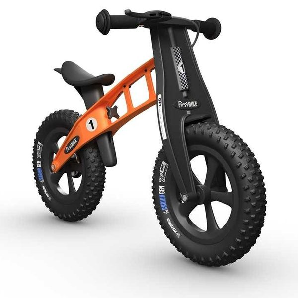 FirstBIKE FAT Cross Balance Bike with Brake Orange