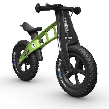 FirstBIKE FAT Cross Balance Bike w/Brake Green