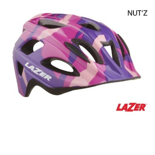 Lazer LAZER Helmet - NUTZ PINK CAMO KIDS UNISIZE