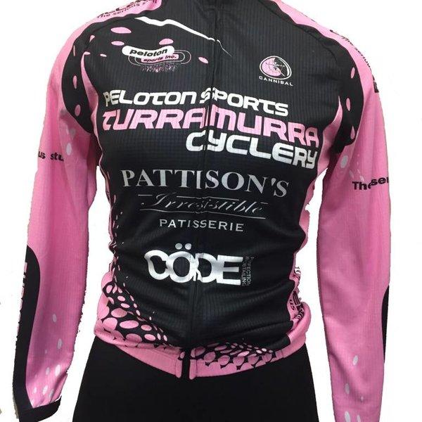 Peloton Sports Peloton Sports Ladies Long Sleeve Jersey Pink/Black