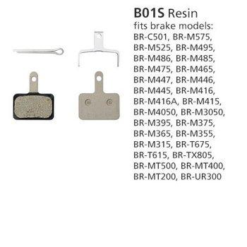 Shimano SHIMANO BR-MT400 DISC BRAKE PADS B01S RESIN 1PR