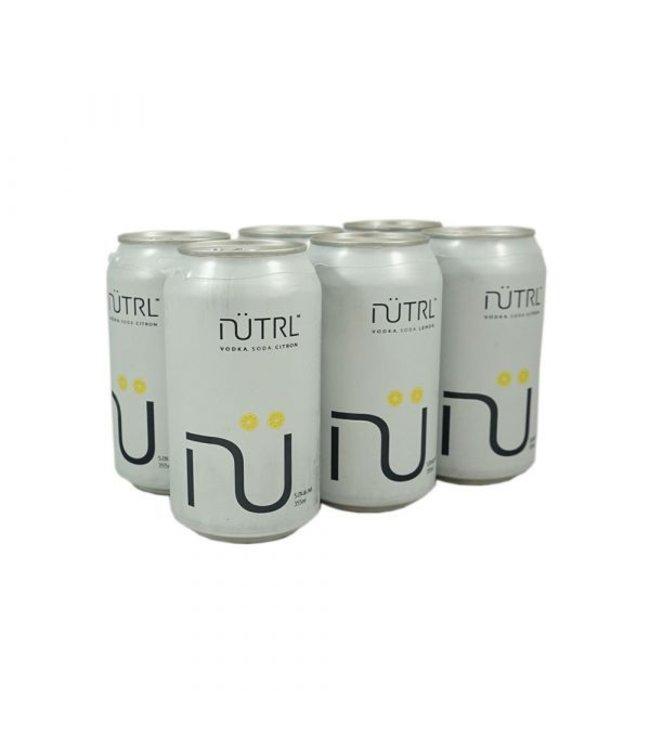 Nutrl Vodka Soda Lemon - 6 Pak