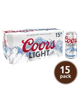 Coors Light - 15 Pak Cans