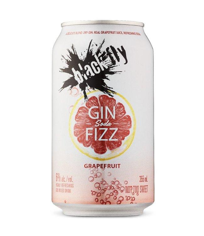 Black Fly Grapefruit Gin Soda Fizz - 6 pak