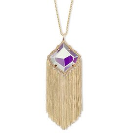 Kendra Scott Kingston Necklace in Dichroic Glass in Gold