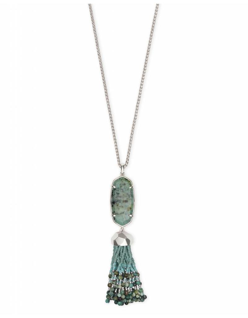 Kendra Scott Eva Necklace in Silver African Turquoise