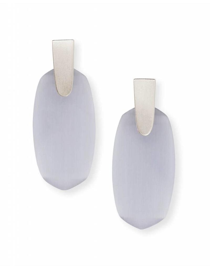 Kendra Scott Aragon Earring Silver Slate Cat Eye