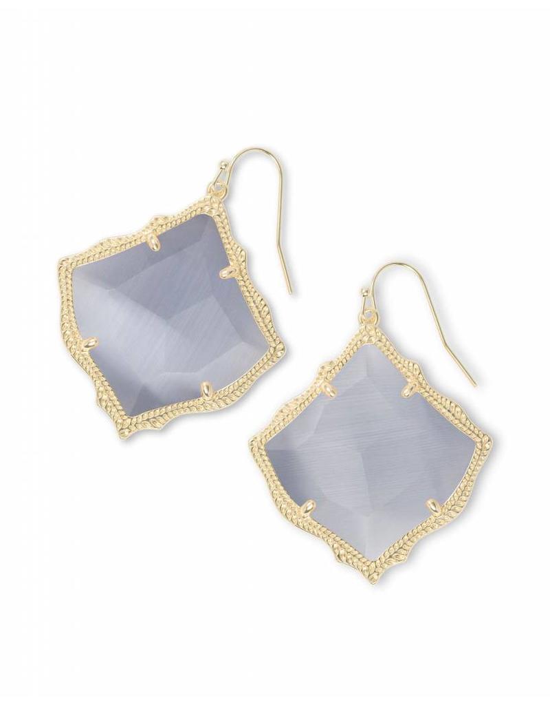Kendra Scott Kirsten Earrings in Slate Gray on Gold