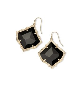 Kendra Scott Kirsten Earring Gold Black