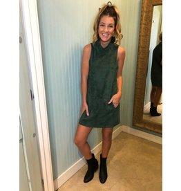 Huntergreen Faux Suede Dress