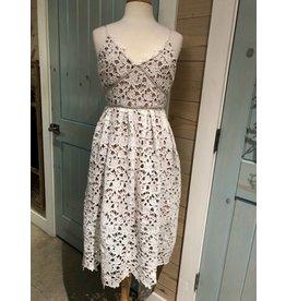 White Lace Single Strap Dress/Mini