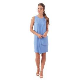 Elizabeth Pannel Dress--Blue