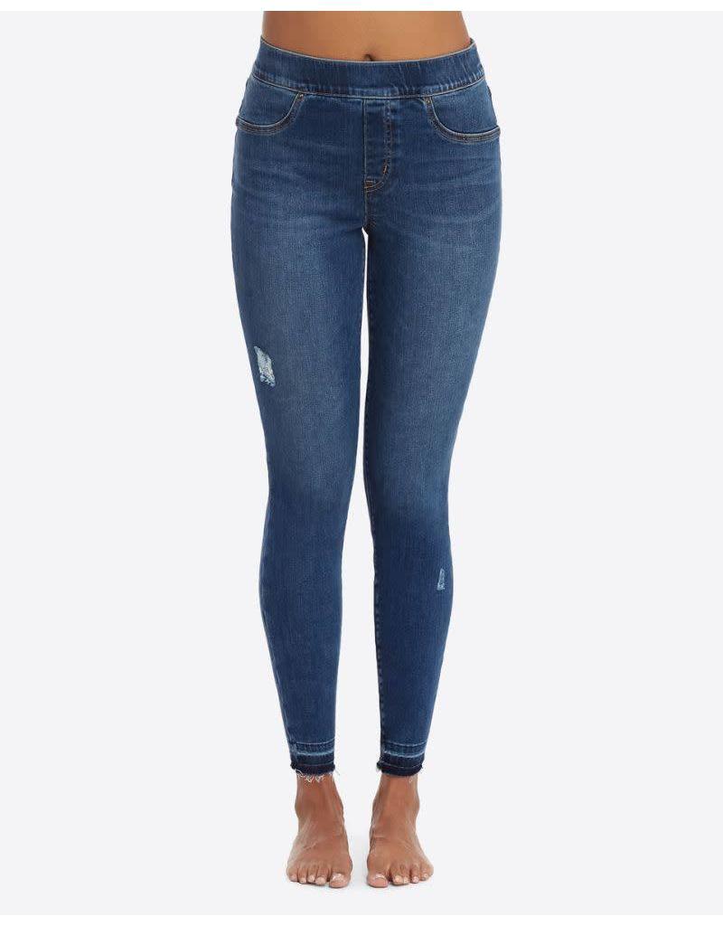 Spanx Distressed Denim Leggings - Medium Wash