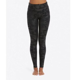 Spanx Faux Leather Leggings Matte Black Camo