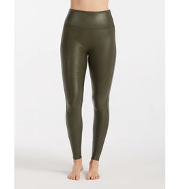 Spanx Faux Leather Leggings Olive