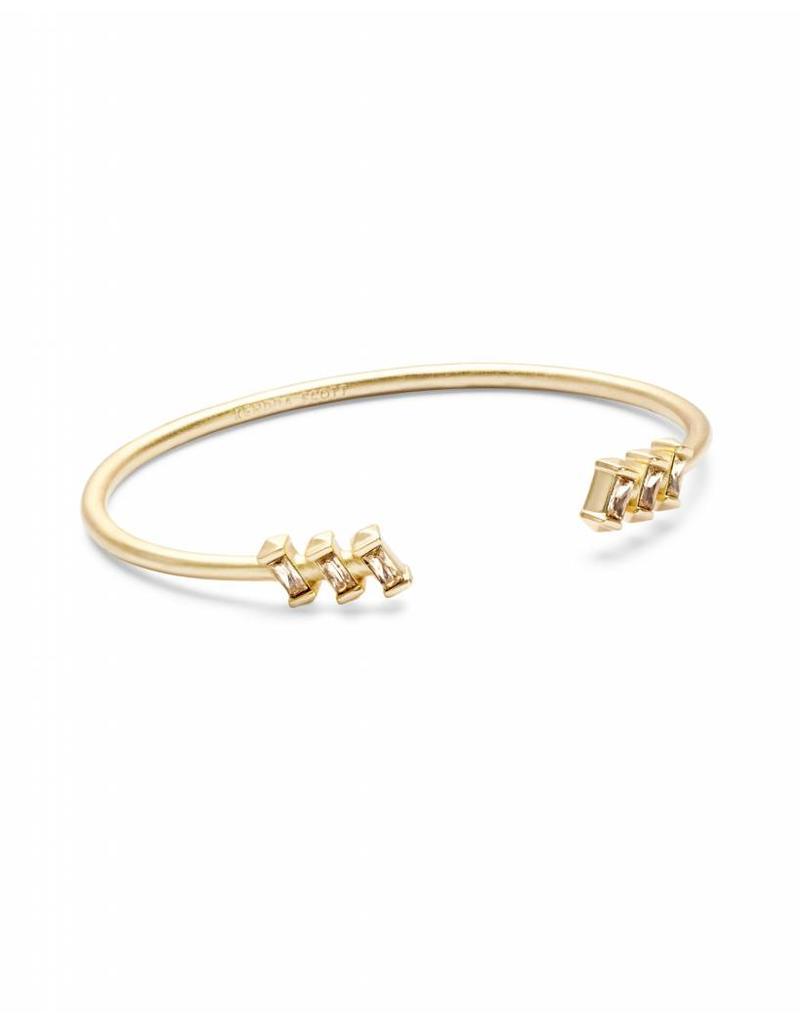 Kendra Scott Amaya Bracelet in Smoky Crystal on Gold