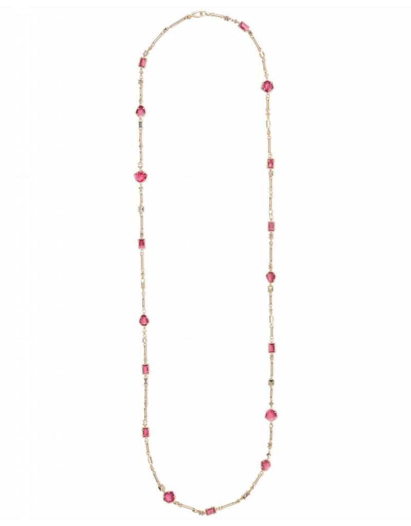 Kendra Scott Yazmin Necklace in Berry Mix on Gold