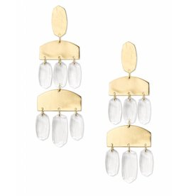 Kendra Scott Emmet Earring Gold Clear Glass
