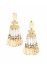 Kendra Scott Oster Earrings in Smoky Crystal on Gold