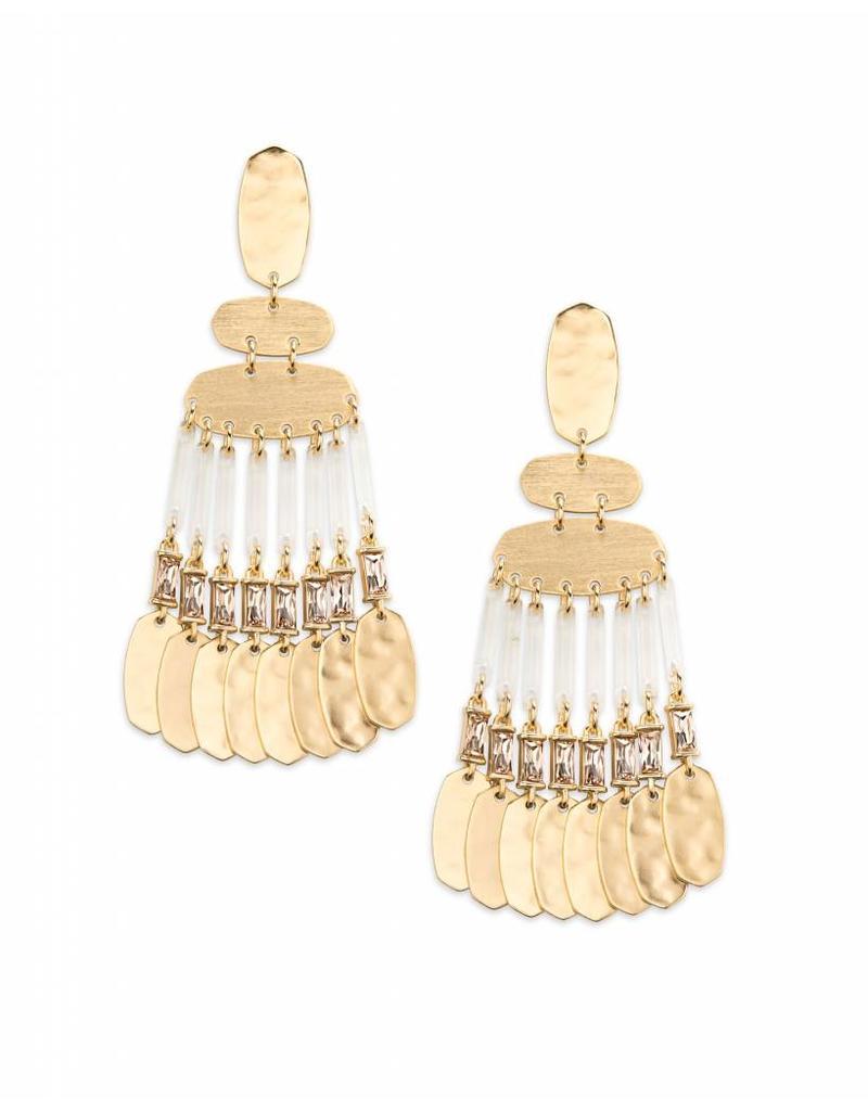 Kendra Scott Oster Earring Gold Smoky Crystal
