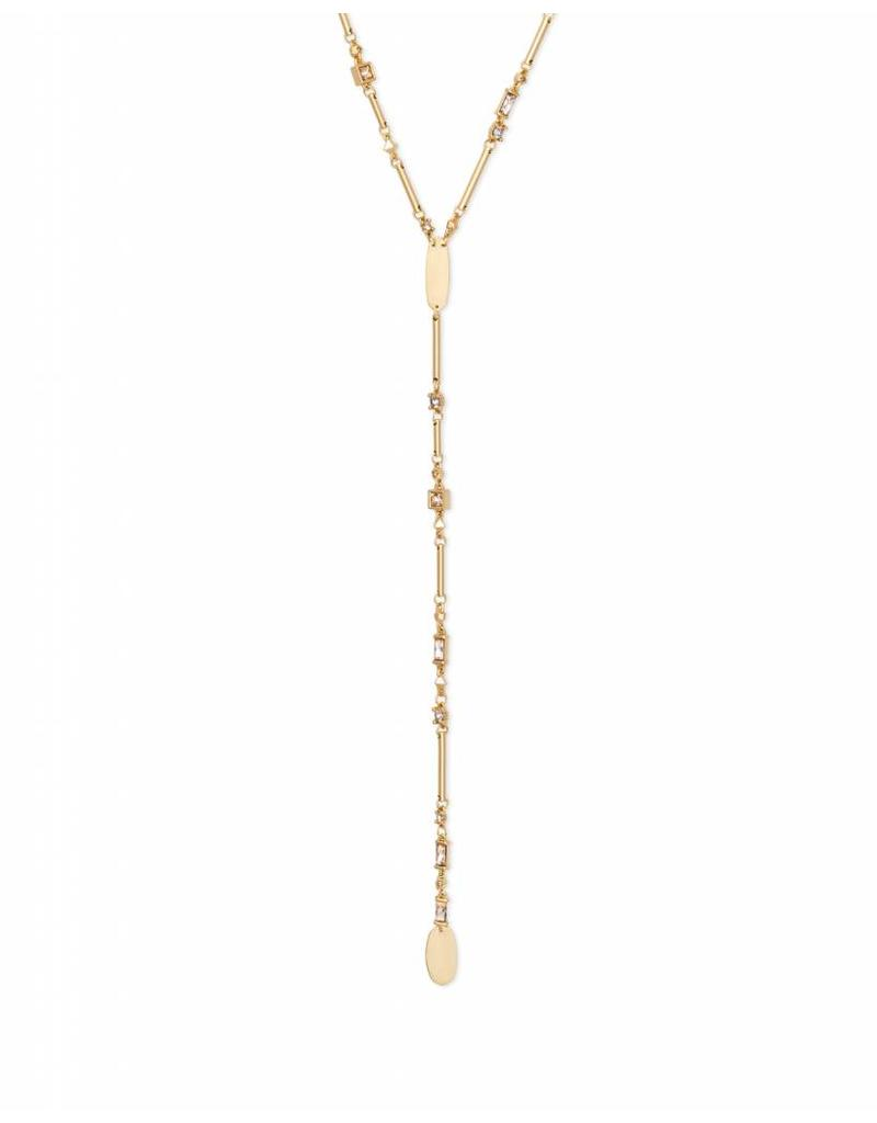 Kendra Scott Crowley Necklace in Smoky Mix on Gold