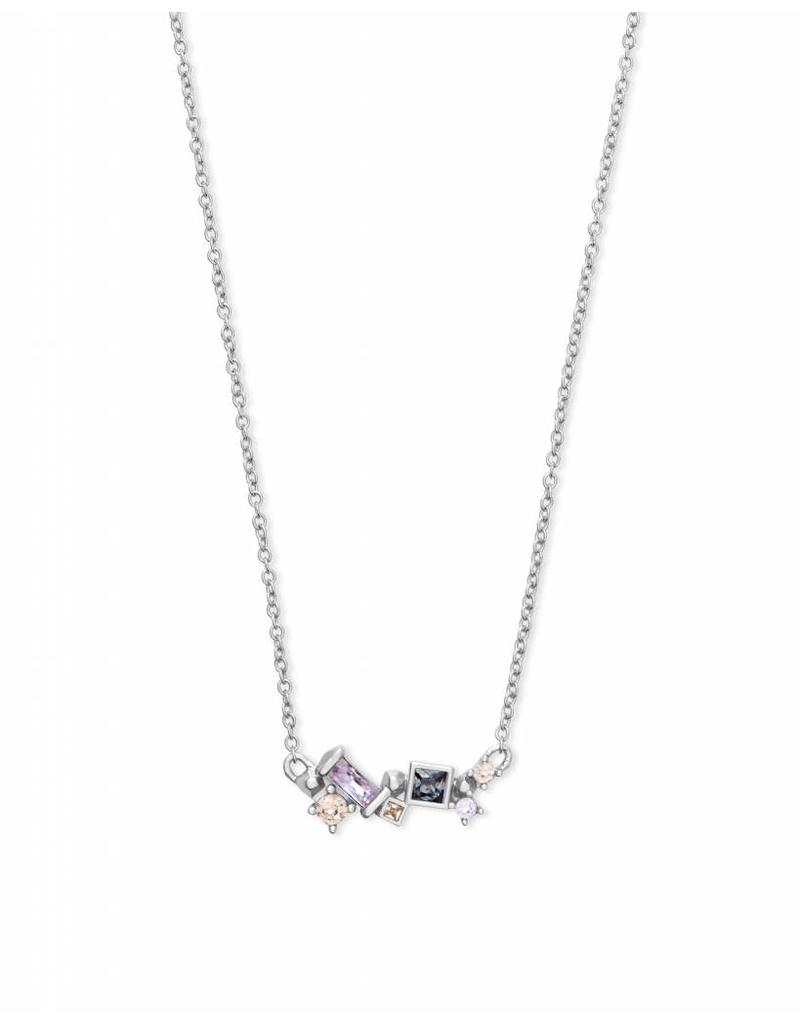 Kendra Scott Gunner Necklace in Lilac Mix on Silver