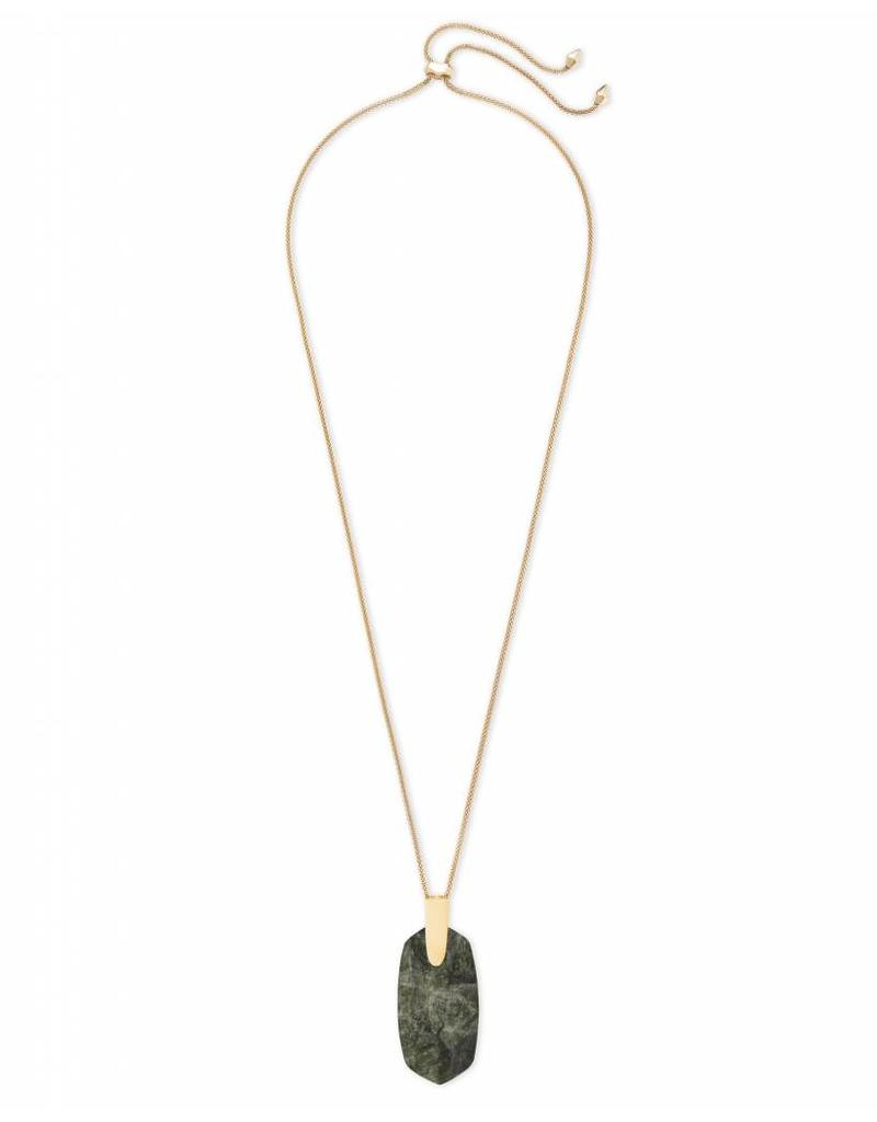 Kendra Scott Inez Necklace in Sage Mica on Gold