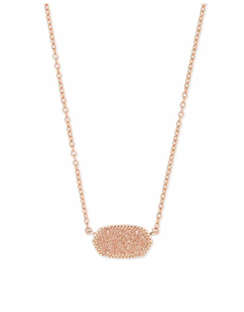 Kendra Scott Elisa Necklace Rose Gold Sand Drusy
