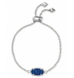 Kendra Scott Elaina Bracelet in Blue Drusy on Silver