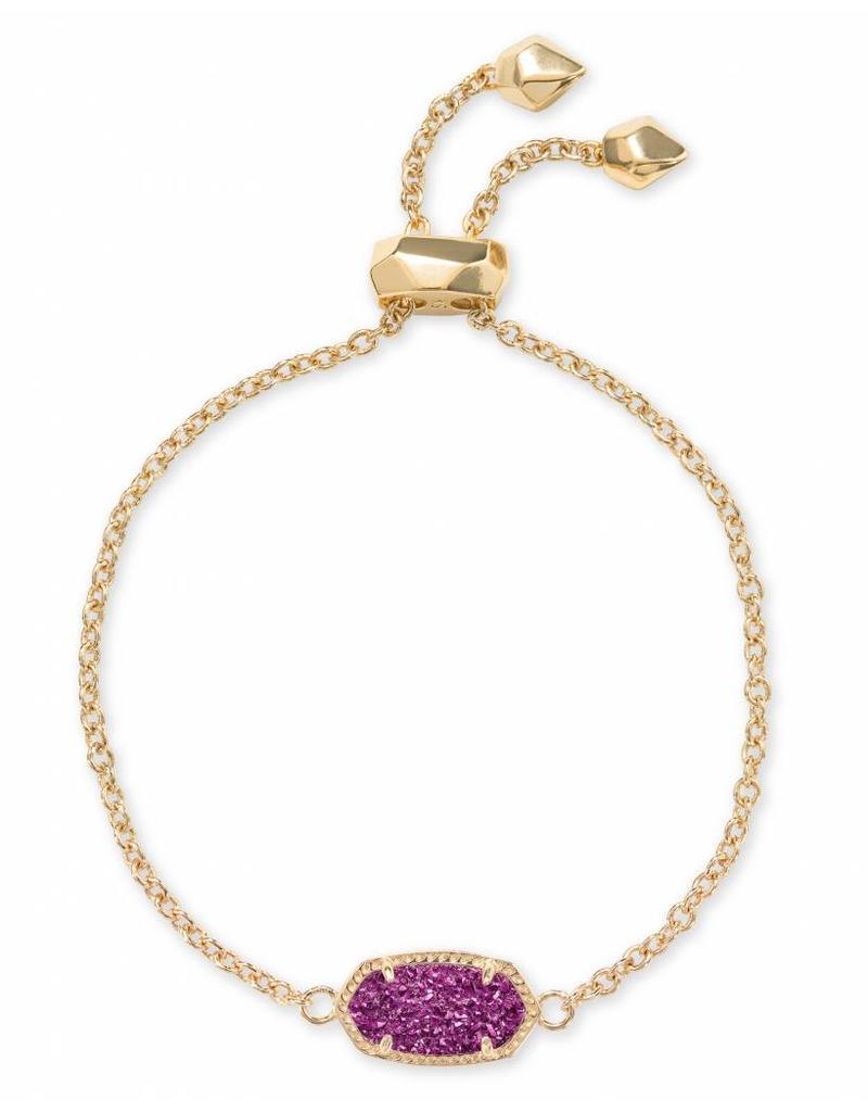 Kendra Scott Elaina Bracelet in Amethyst Drusy on Gold