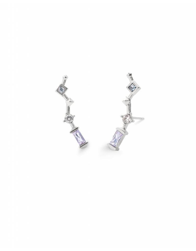 Kendra Scott Sutton Earring in Lilac Mix on Silver