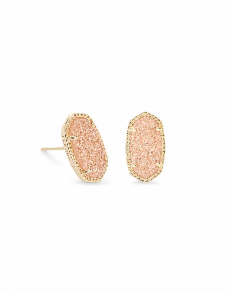 Kendra Scott Ellie Earrings Sand Drusy on Gold
