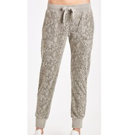 Another Love Angela Espresso Snake Burnout Jogger Pant