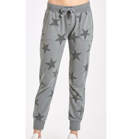 Another Love Star Print Grey Jogger Pant