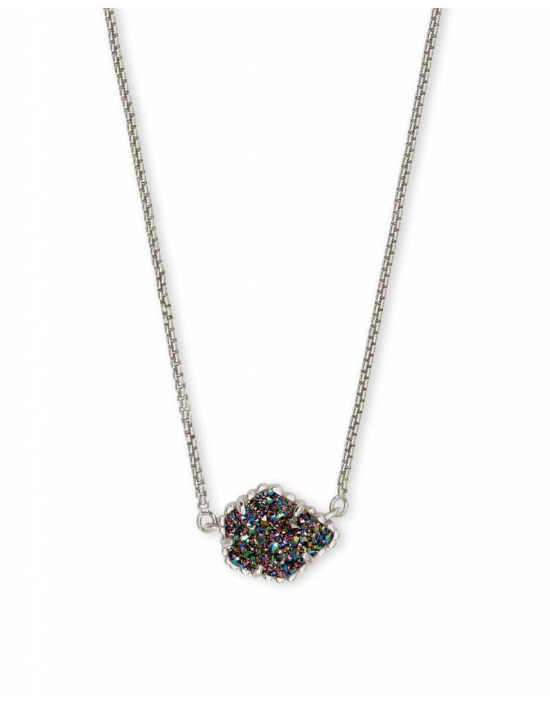 Kendra Scott Tess Silver Necklace in Multi Drusy