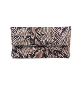 CoFi Leather Mollie Convertible Clutch - Snake