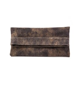 CoFi Leather Mollie Convertible Clutch - Vintage Brown
