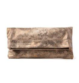 CoFi Leather Mollie Convertible Clutch - Gold