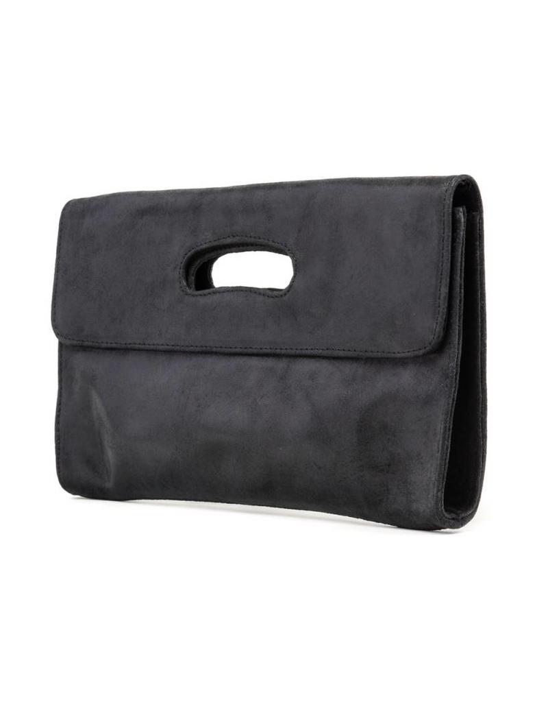 CoFi Leather Deeva Clutch - Black