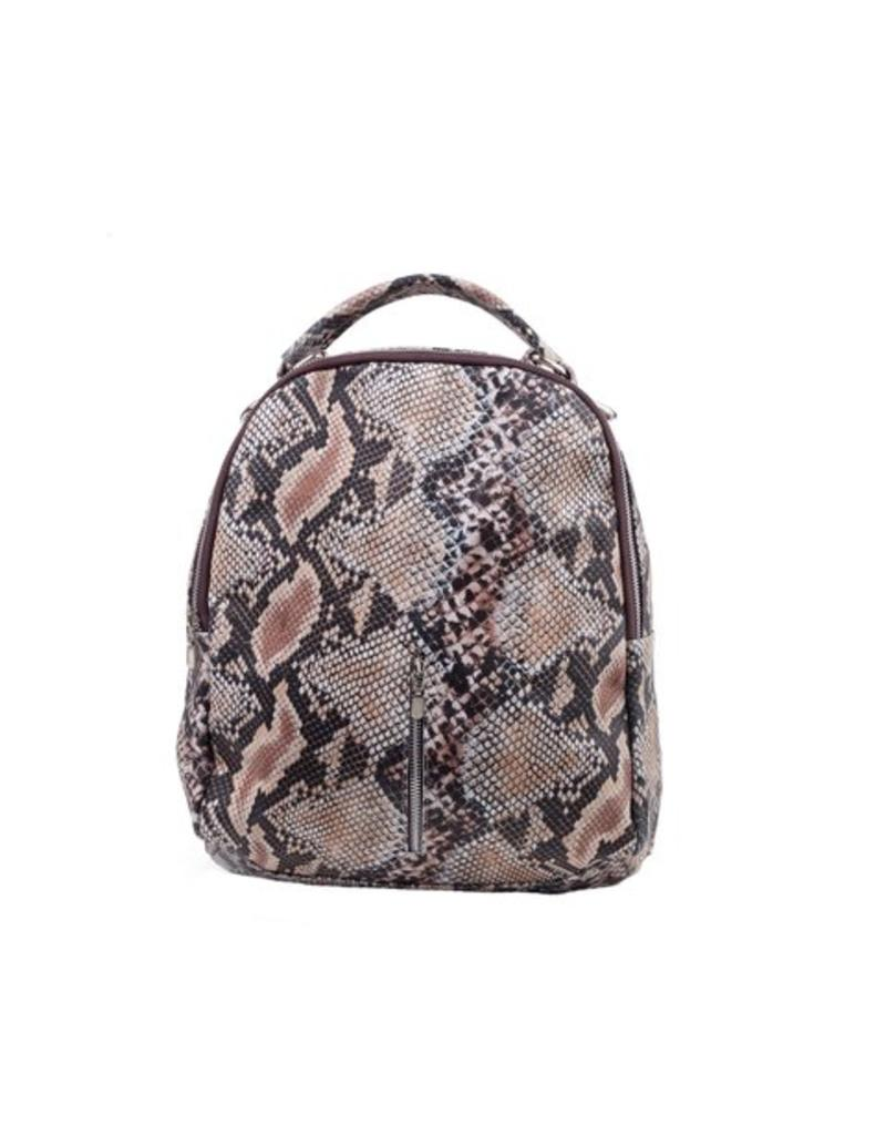 Cofi Leather Backpack - Snake