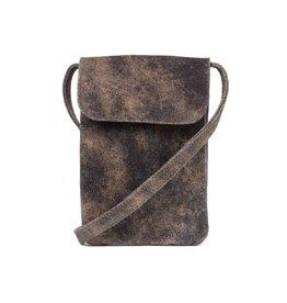 CoFi Leather Penny Phone Bag - Vintage Brown