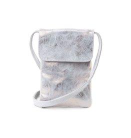 CoFi Leather Penny Phone Bag - Rose Gold/White
