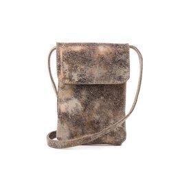 CoFi Leather Penny Phone Bag - Gold