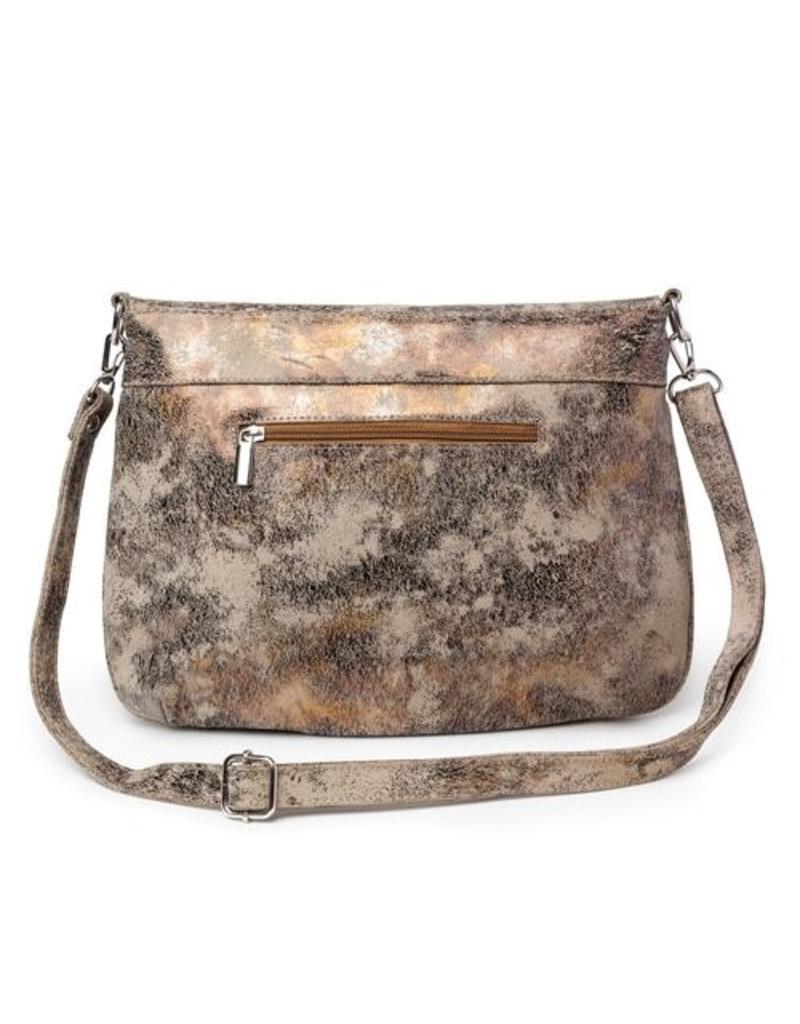 CoFi Leather Megan Mini Messenger - Gold