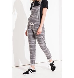 Z Supply Dark Grey Camo Overalls