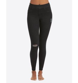 Spanx Distressed Denim Leggings Vintage Black