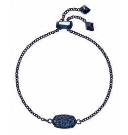 Kendra Scott Elaina Bracelet in Blue Drusy on Navy Gunmetal